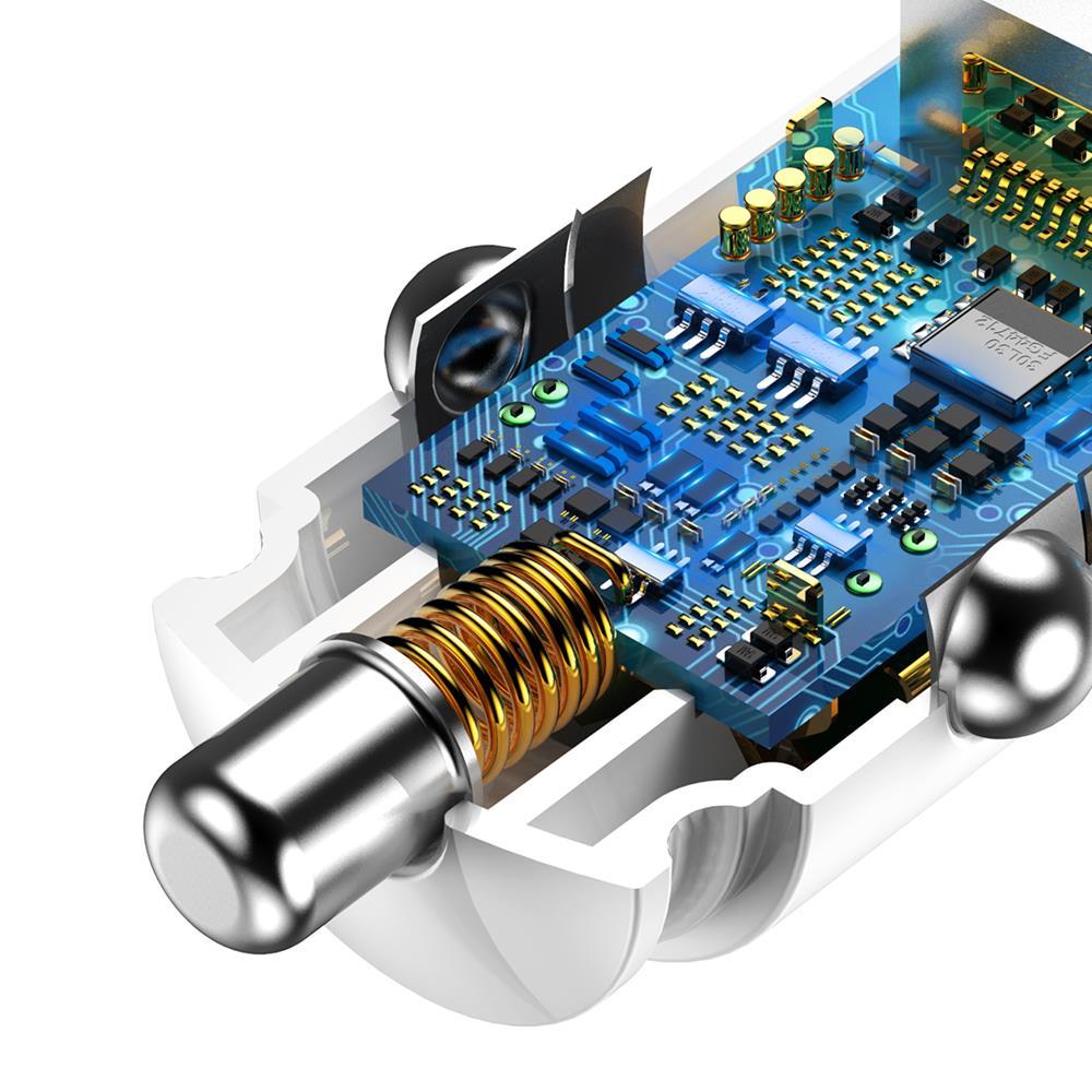 Baseus ładowarka samochodowa Dual QC3.0 30W biała / 5