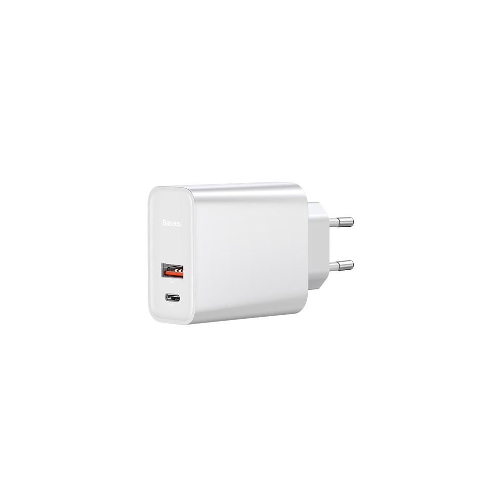 Baseus ładowarka sieciowa PPS QC USB + PD 30W biała