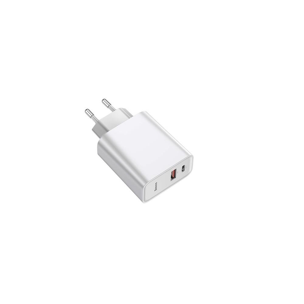 Baseus ładowarka sieciowa PPS QC USB + PD 30W biała / 3