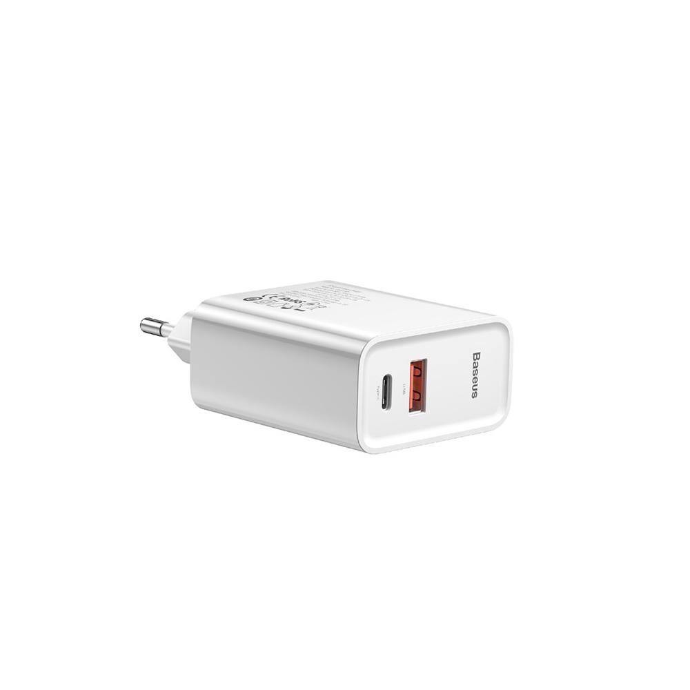Baseus ładowarka sieciowa PPS QC USB + PD 30W biała / 4