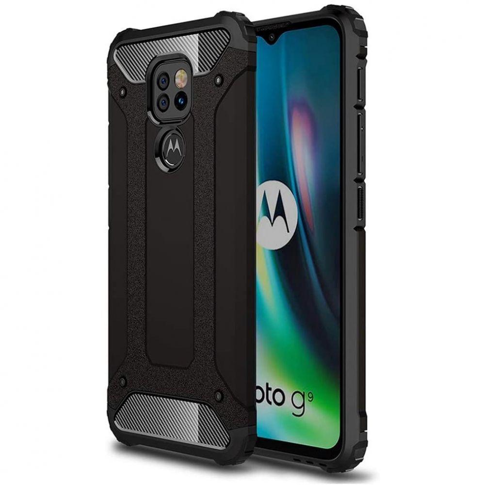etui pancerne Armor Case Czarne Motorola Moto E7 Plus