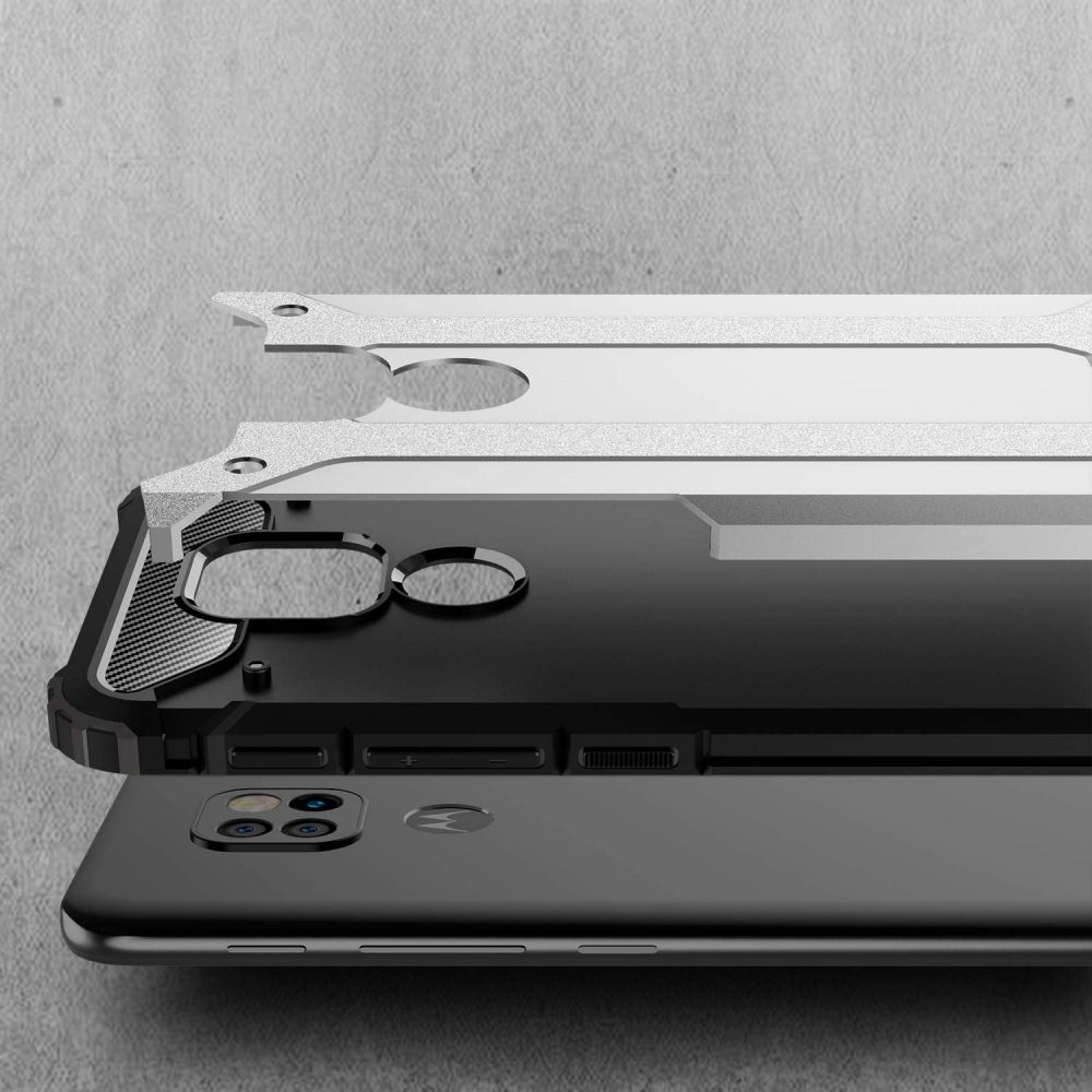 etui pancerne Armor Case Czarne Motorola Moto E7 Plus / 3
