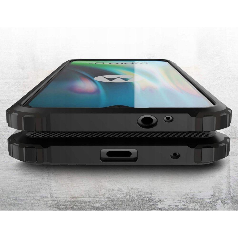 etui pancerne Armor Case Czarne Motorola Moto E7 Plus / 6