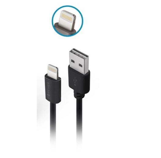 Ładowarka samochodowa Forever CC-03 (2x USB | 3,6 A) + kabel Lightining do iPhone 8-pin (3A) / 2