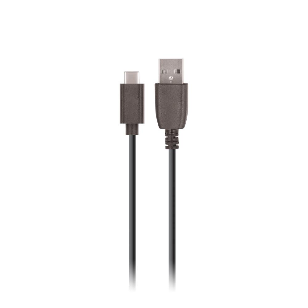 Ładowarka samochodowa Setty USB 2,4A czarna + kabel typ C 1m czarny / 2