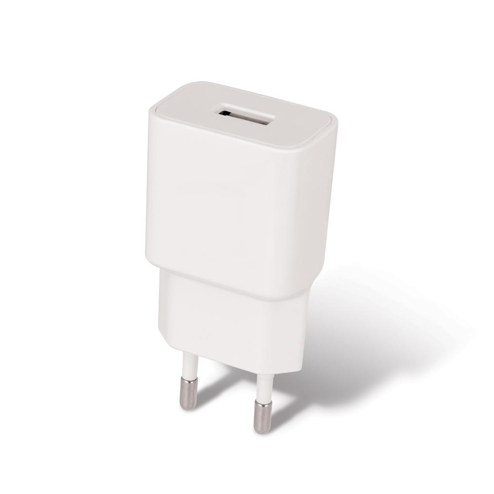Ładowarka sieciowa Setty USB 2,4A biała + kabel Lightning 1m biały