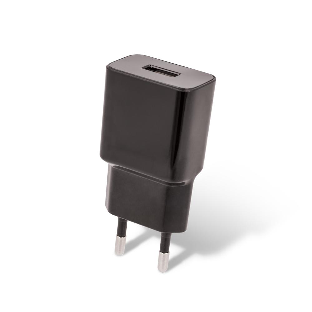 Ładowarka sieciowa Setty USB 2,4A czarna + kabel typ C 1m czarny