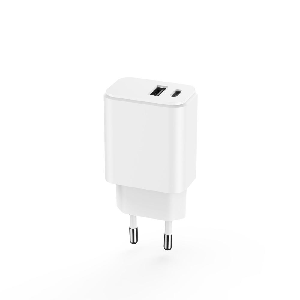 Maxlife ładowarka sieciowa PD MXTC-04 USB-C + USB 20W biała / 4