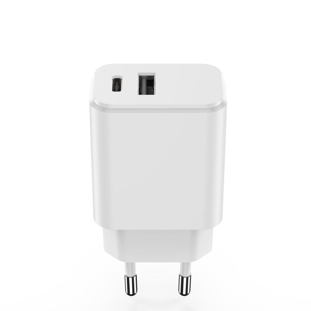 Maxlife ładowarka sieciowa PD MXTC-04 USB-C + USB 20W biała / 5