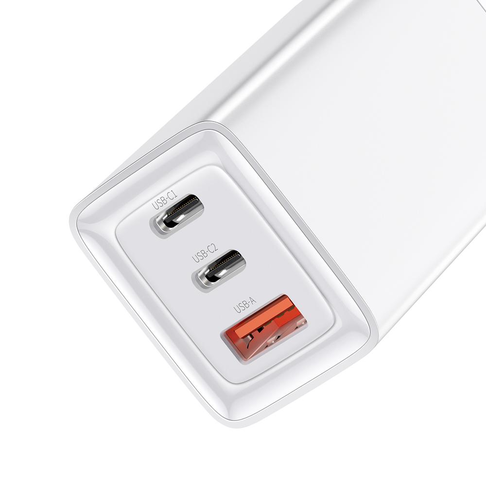 Mcdodo ładowarka sieciowa GaN 3USB USB-A/ 2xPD USB-C 65W biała CH-7920 / 3