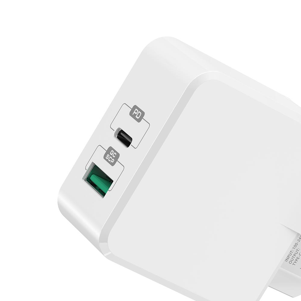 Mcdodo ładowarka sieciowa PD 2USB QC 3.0/ PD USB-C biała 30W CH-6920 / 2