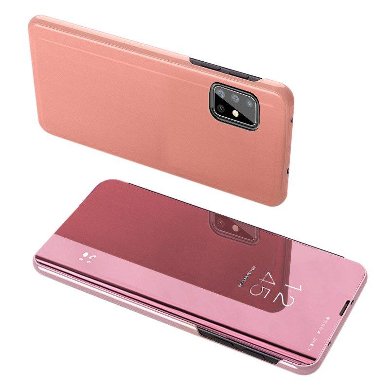 Pokrowiec Clear View różowy Samsung A51 5G