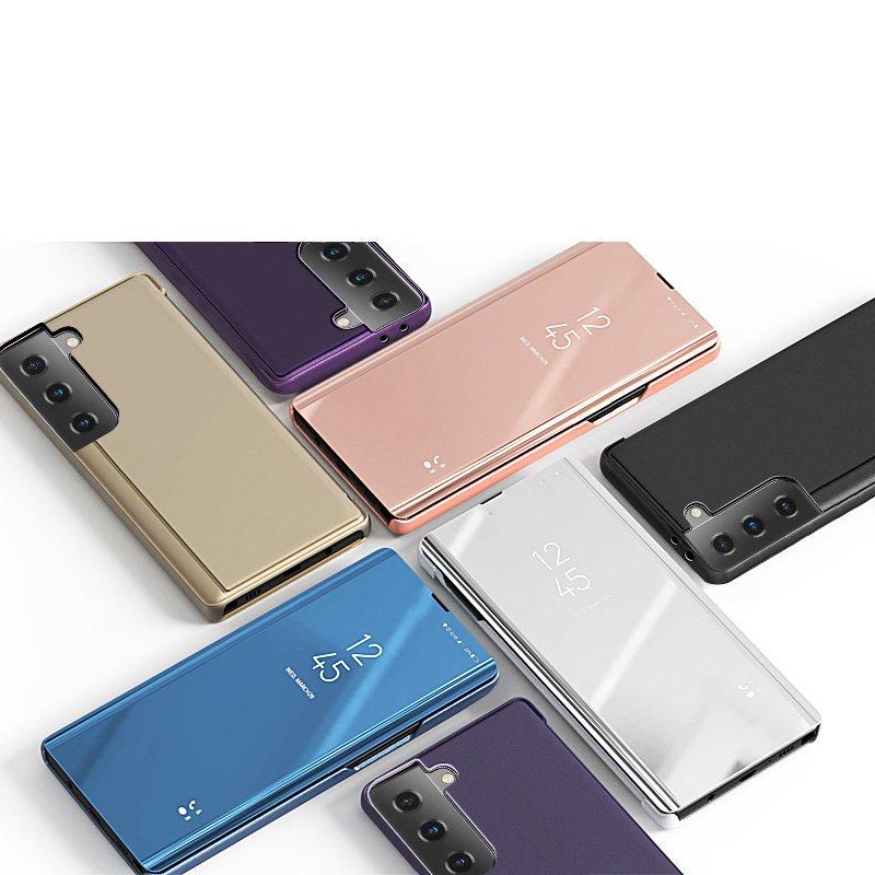 Pokrowiec Clear View różowy Samsung Galaxy S21 5G / 5