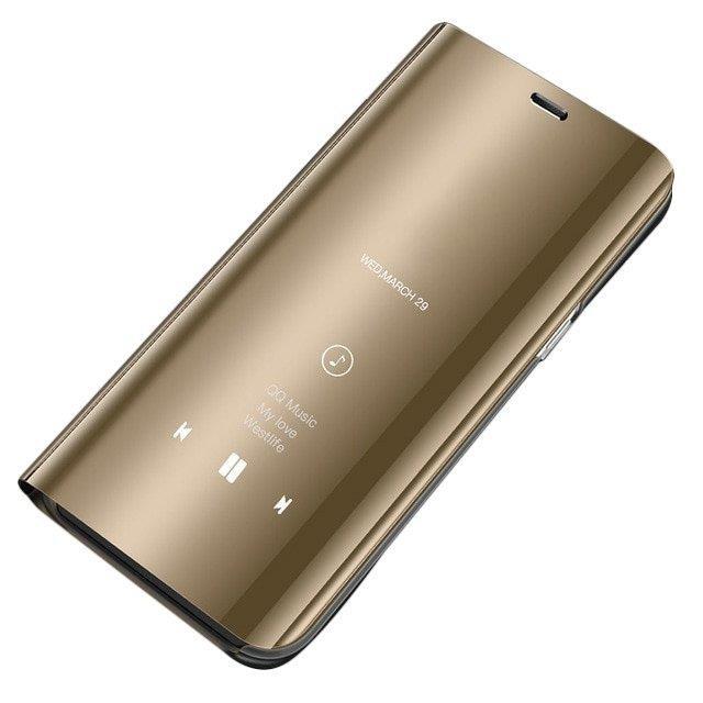 Pokrowiec Clear View złoty Samsung Galaxy S10