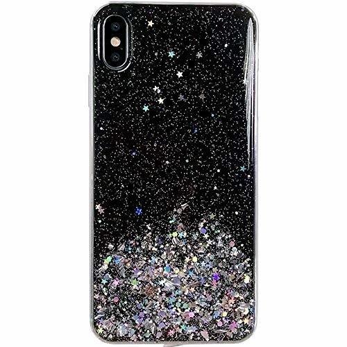 Pokrowiec silikonowy Glitter z brokatem czarny Huawei P30 Lite