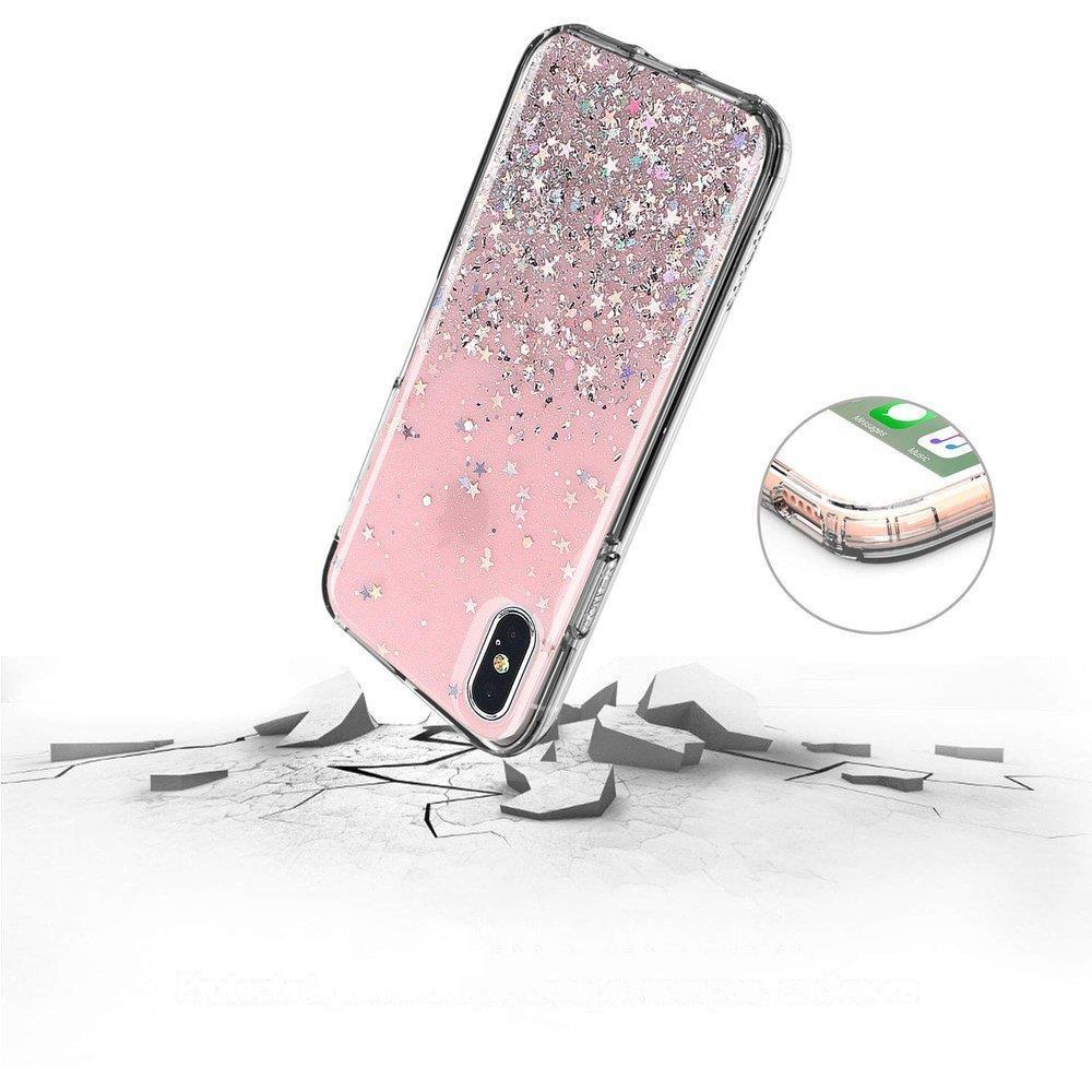 Pokrowiec silikonowy Glitter z brokatem czarny Huawei P30 Lite / 4