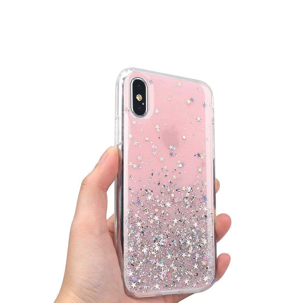 Pokrowiec silikonowy Glitter z brokatem czarny Huawei P30 Lite / 5