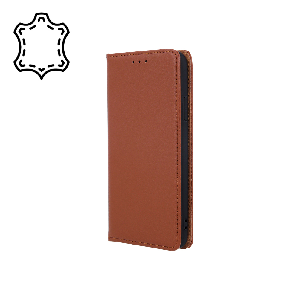 Pokrowiec skórzany Smart Pro brązowy Samsung A12