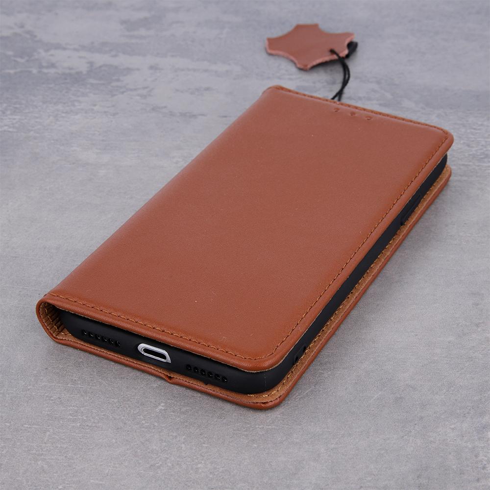 Pokrowiec skórzany Smart Pro brązowy Samsung A12 / 5