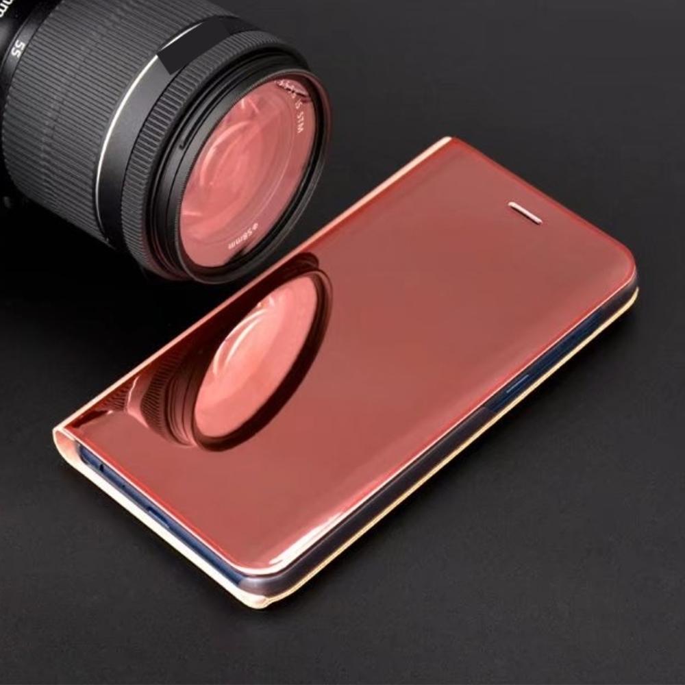 Pokrowiec Smart Clear View różowy Huawei P20 Lite / 5