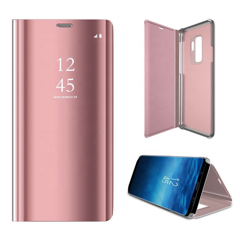 Pokrowiec Smart Clear View różowy Huawei P30 Lite / 2