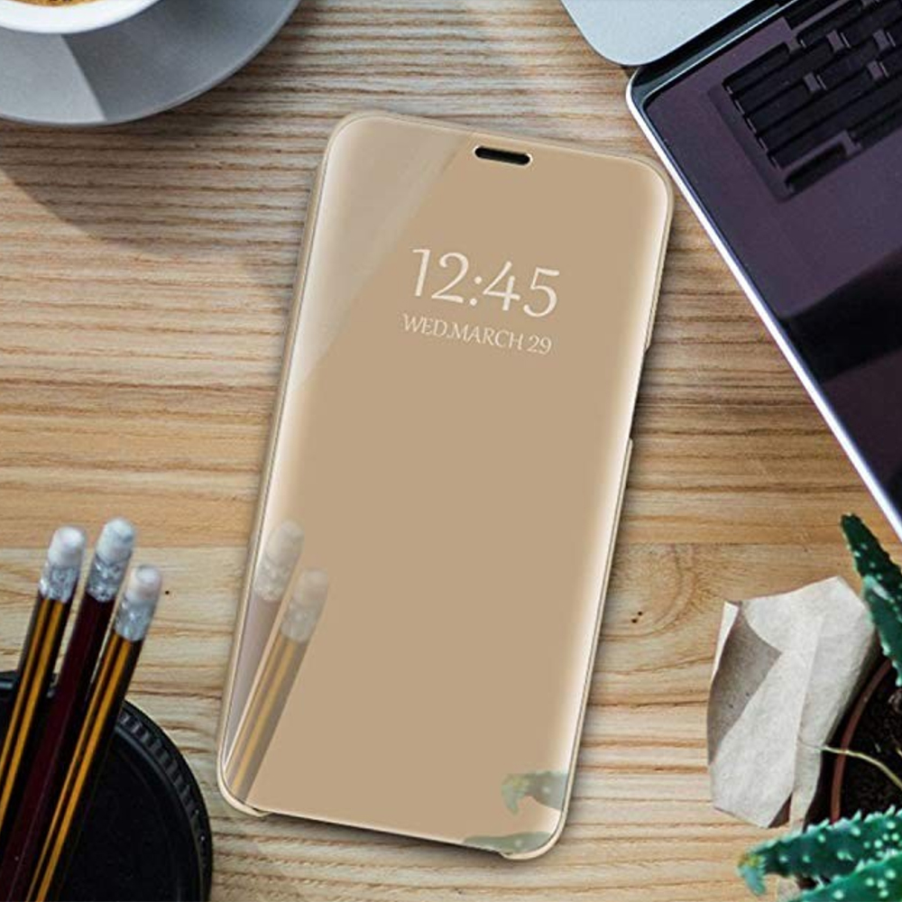 Pokrowiec Smart Clear View złoty Samsung Galaxy A51 / 5