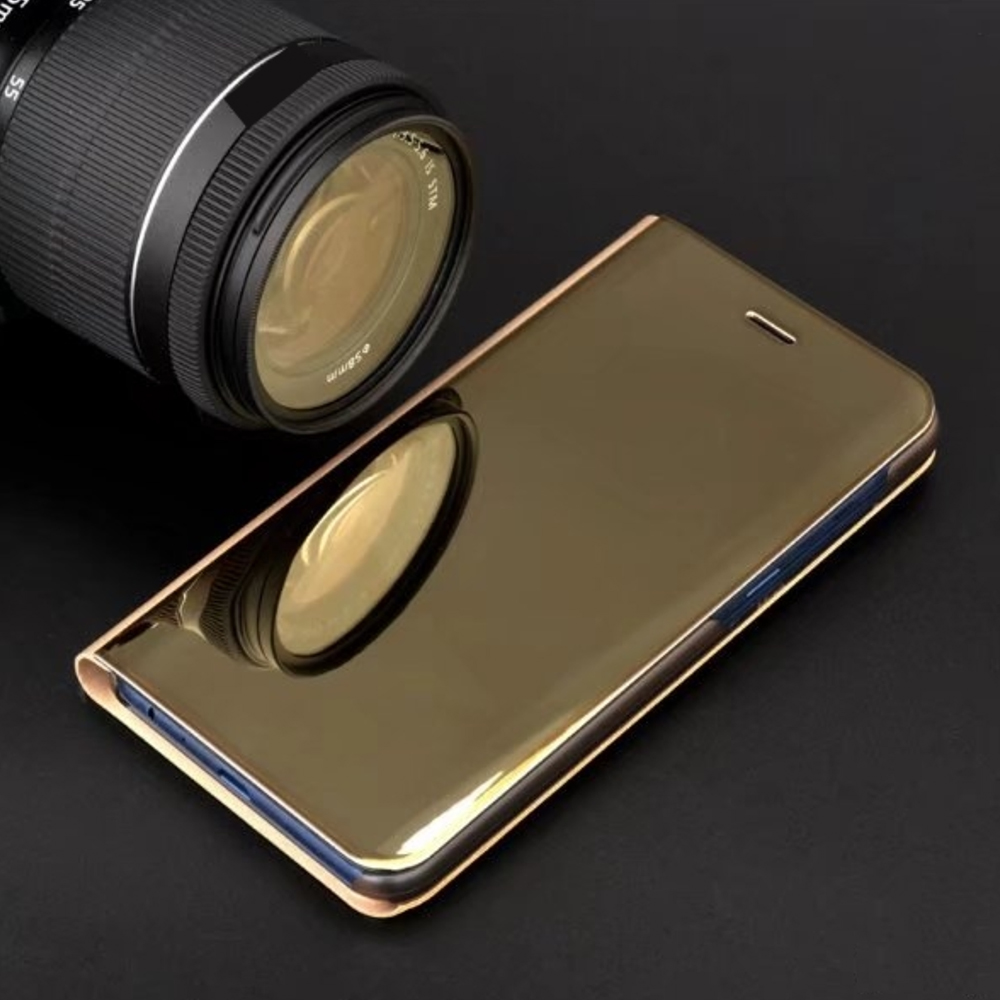 Pokrowiec Smart Clear View złoty Samsung Galaxy A71 / 4