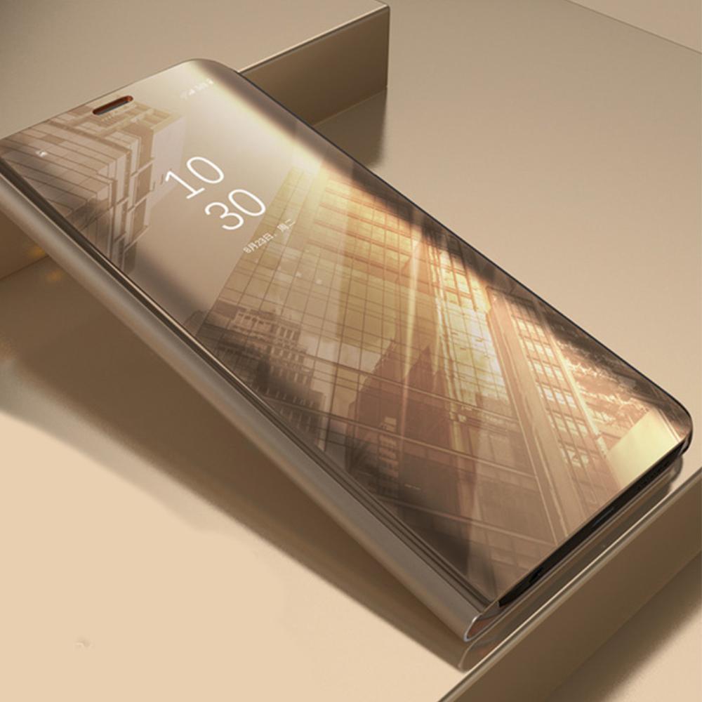 Pokrowiec Smart Clear View złoty Samsung Galaxy S7 Edge / 3