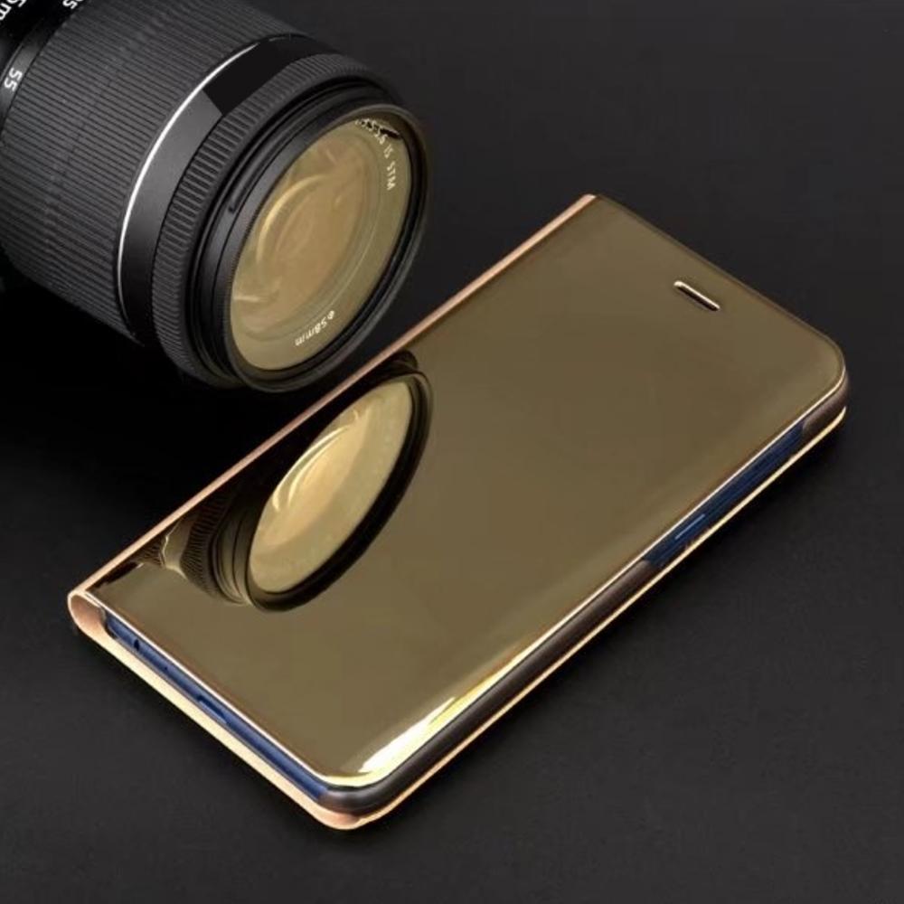 Pokrowiec Smart Clear View złoty Samsung Galaxy S7 Edge / 4