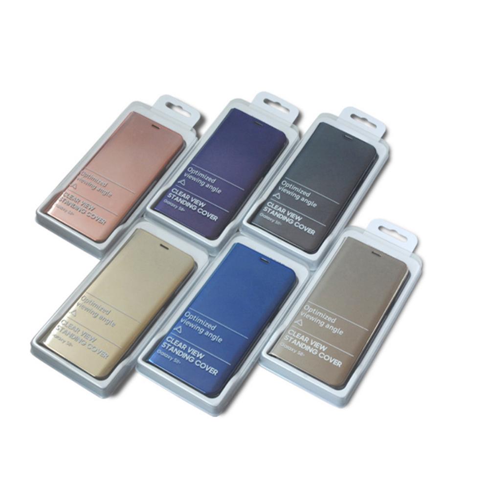 Pokrowiec Smart Clear View złoty Samsung Galaxy S7 Edge / 6