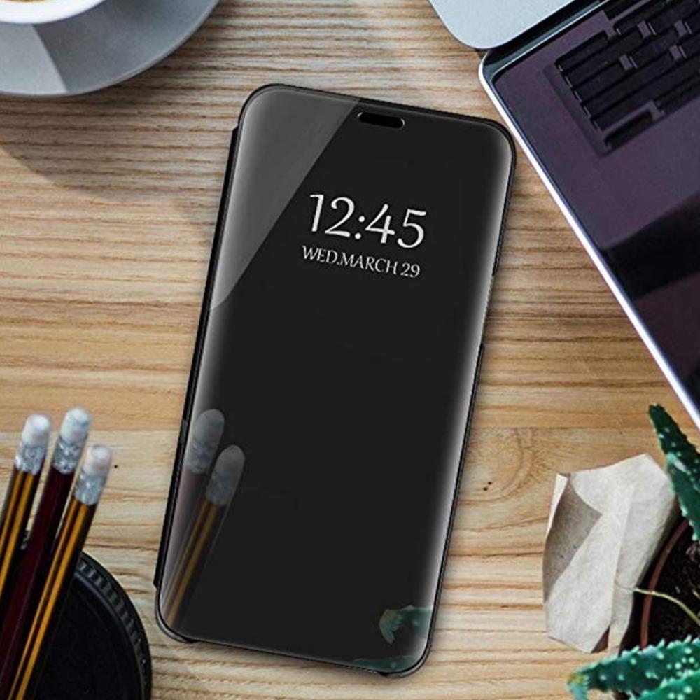 Pokrowiec Smart Clear View czarny Xiaomi Mi Note 10 Lite / 8