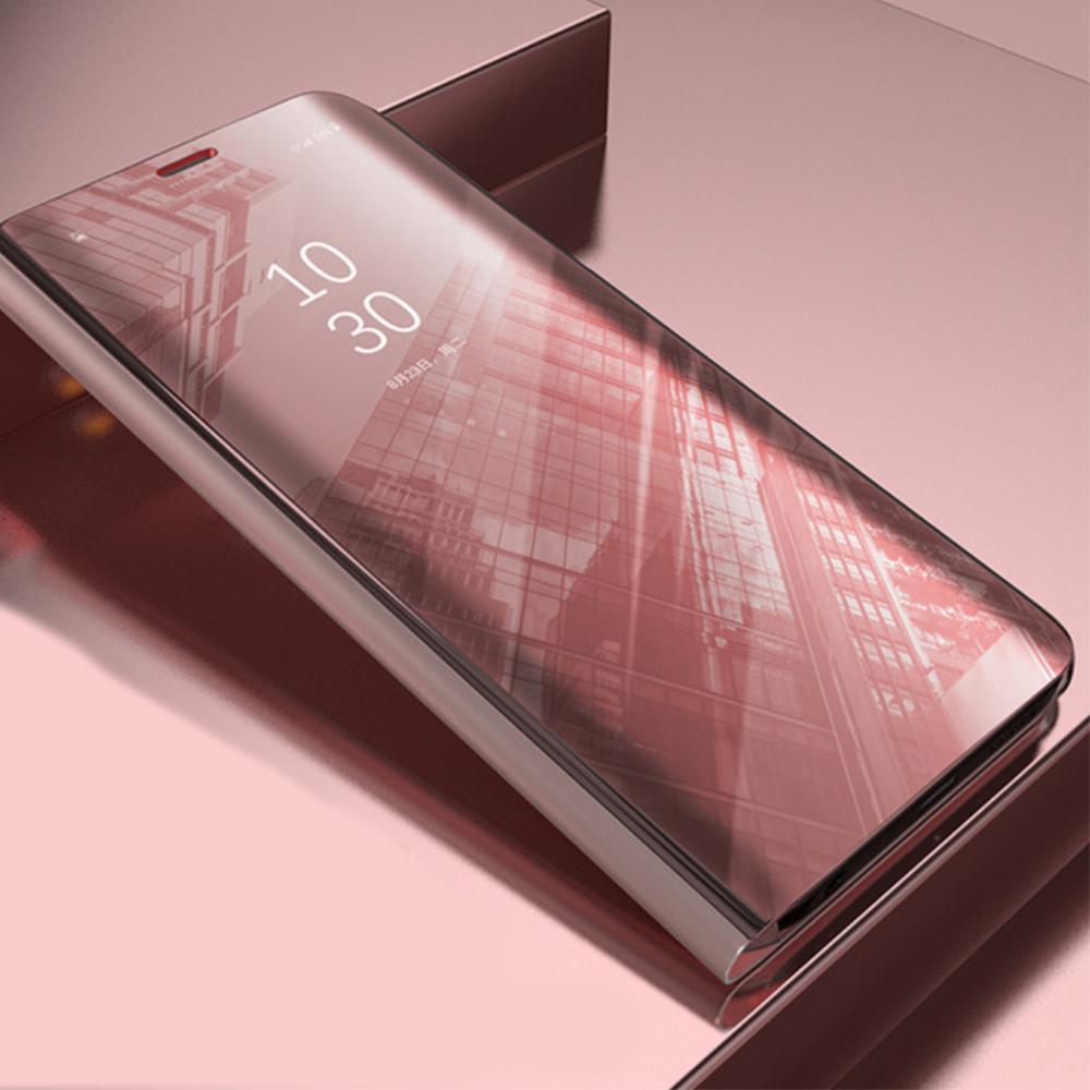 Pokrowiec Smart Clear View różowy Xiaomi Redmi Note 9 / 4