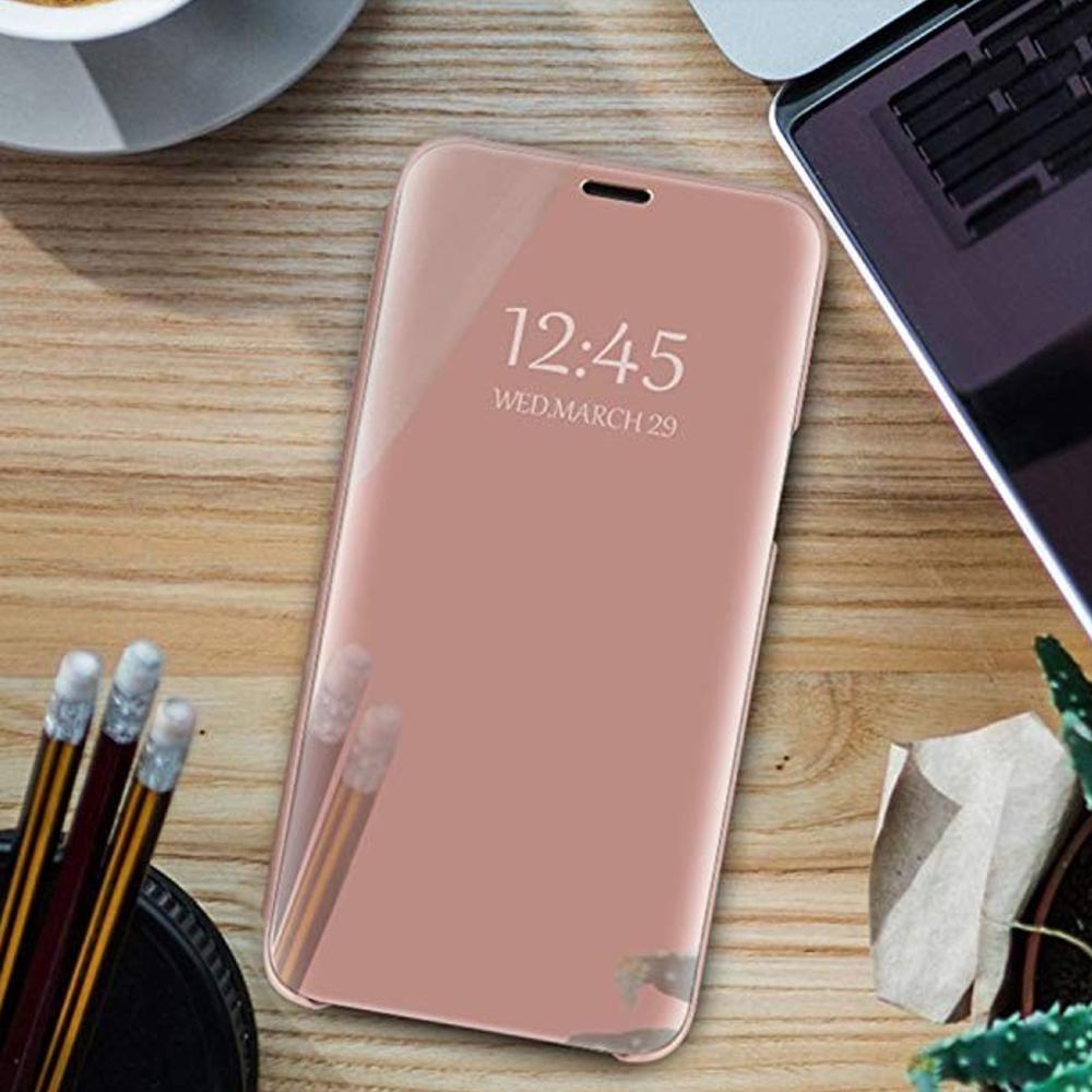Pokrowiec Smart Clear View różowy Xiaomi Redmi Note 9 / 6