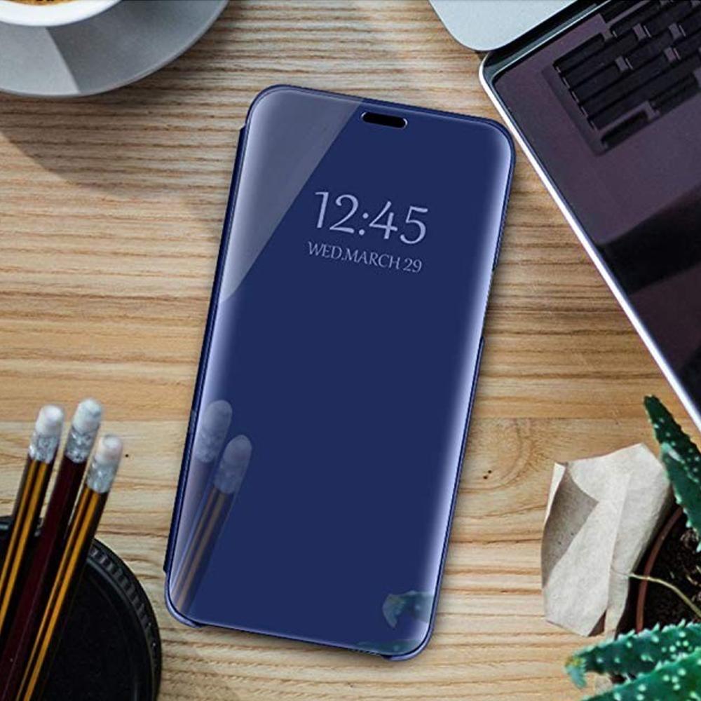 Pokrowiec Smart Clear View niebieski Xiaomi Redmi Note 9 / 8