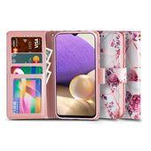 etui z klapką Tech-protect Wallet Floral rose do Samsung A32