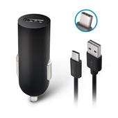 Ładowarka samochodowa Forever USB 2A M02 + kabel typ-C