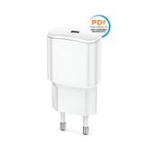 Ładowarka sieciowa Forever USB 3A (20W) PD TC-01 biała