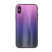 Nakładka Aurora Glass różowo-czarna do Samsung Galaxy A20e