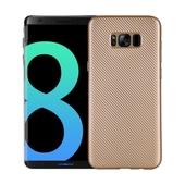 Pokrowiec Carbon Fiber złoty do Samsung Galaxy S8 Plus