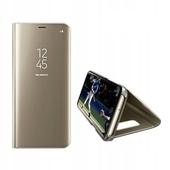 Pokrowiec inteligentny Clear View złoty do Samsung Galaxy S10 Plus