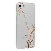 Pokrowiec silikonowy Telone Floral wzór Cherry do Samsung Galaxy A80