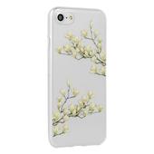 Pokrowiec silikonowy Telone Floral wzór Magnolia do Samsung Galaxy A80