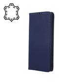 Pokrowiec skórzany Smart Pro niebieski do Samsung A12
