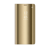 Pokrowiec Smart Clear View złoty do Xiaomi Redmi Note 9
