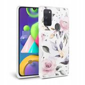 Tech-protect Floral Galaxy M21 Białe do Samsung M21