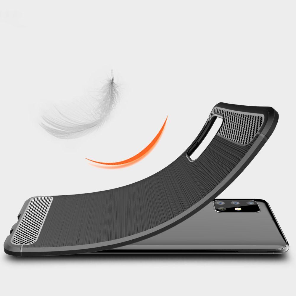 Tech-protect Tpucarbon Galaxy M31s Czarne Samsung M31s / 4