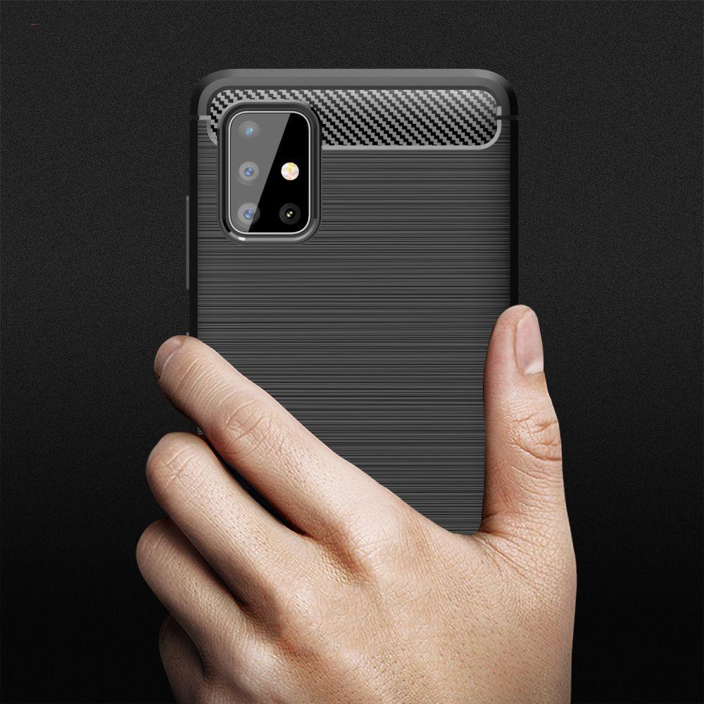 Tech-protect Tpucarbon Galaxy M31s Czarne Samsung M31s / 5