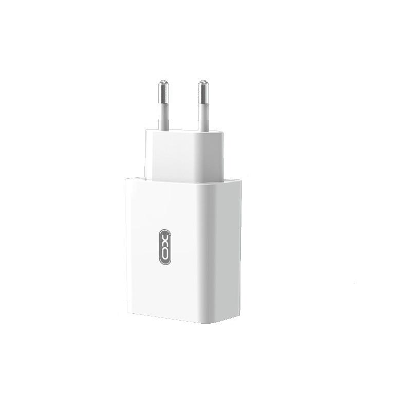 XO Ładowarka sieciowa L36 plus kabel micro biała 1USB QC3.0